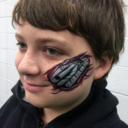 terminator face paint design