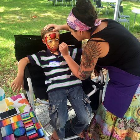 ornald face painting Orange County Classroom Teachers Association