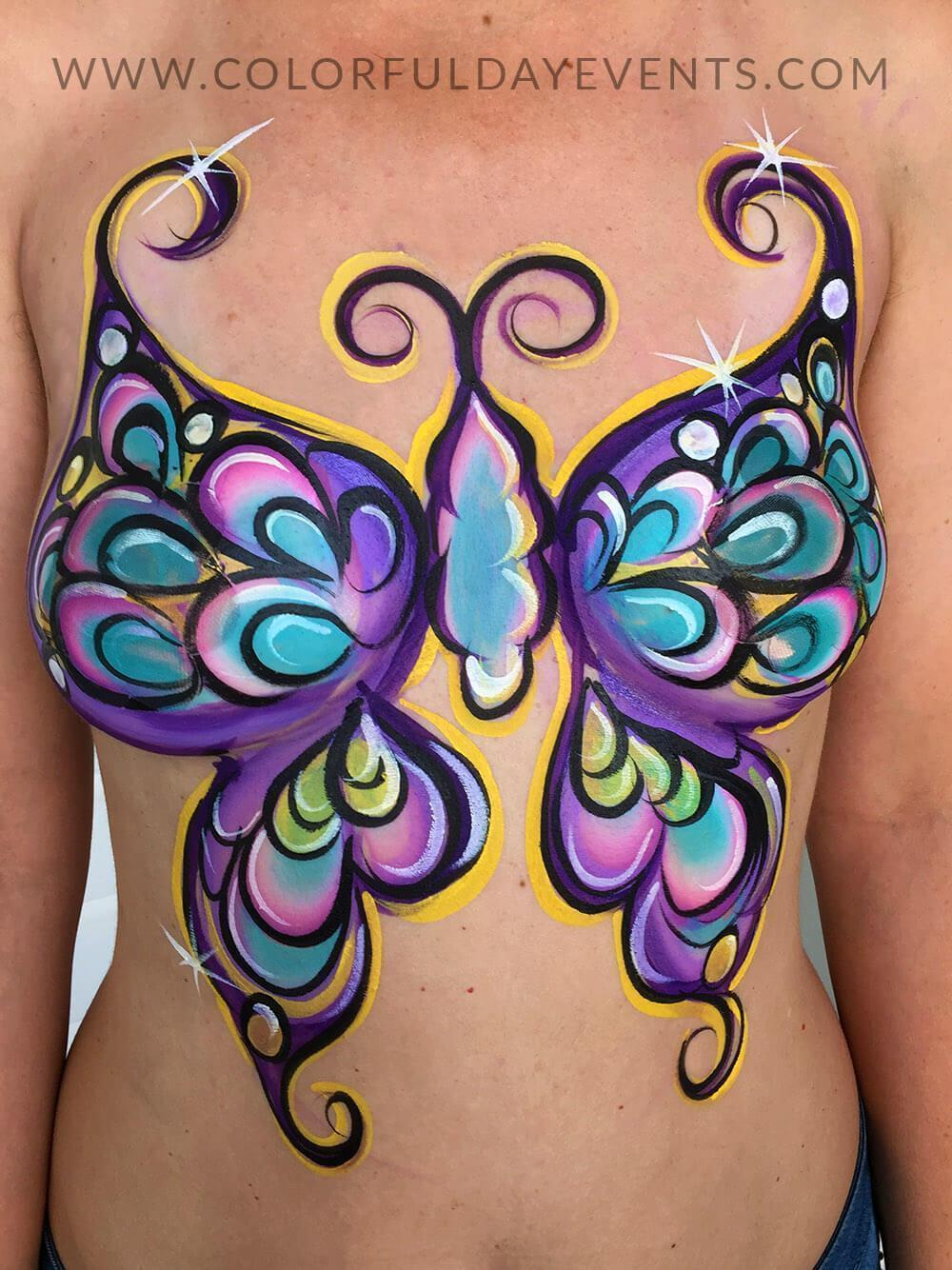 Fantasy fest body painting artist for hire