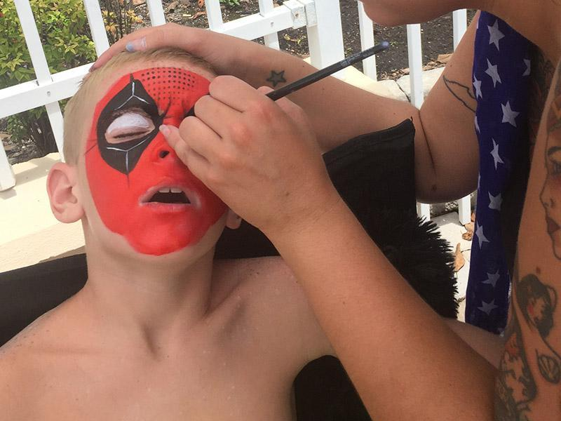 Waterproof face painting orlando florida