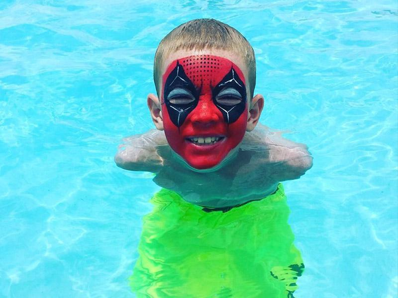 Waterproof Paint For Pools : Waterproof face painting party orlando painters