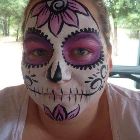 sugar skull face paint design for woman