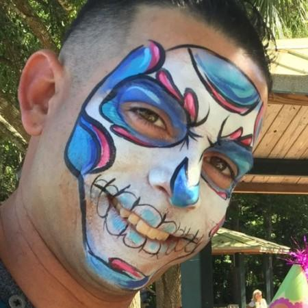 sugar skull face painting design