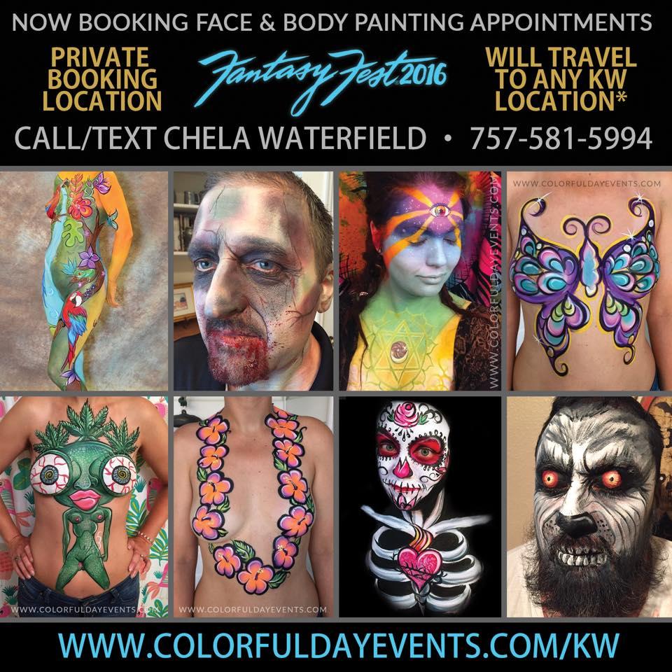 fantasy fest body painter 2016
