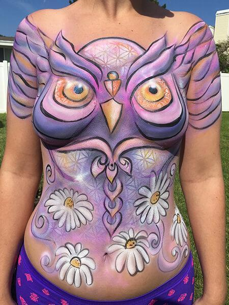 body painting artist Fl