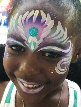 mermaid face painting design