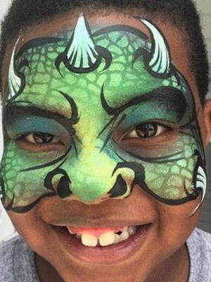 kids monster face paint design