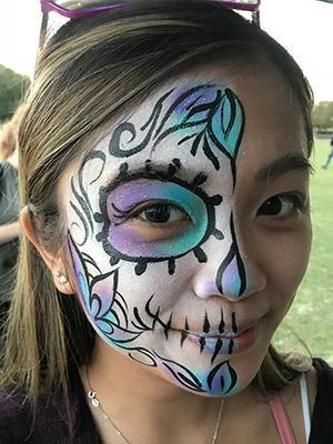 sugar Skull Face Paint design on woman