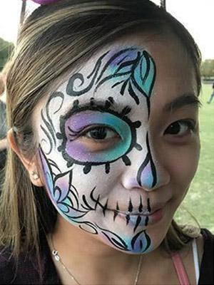 adult sugar skull face painting design