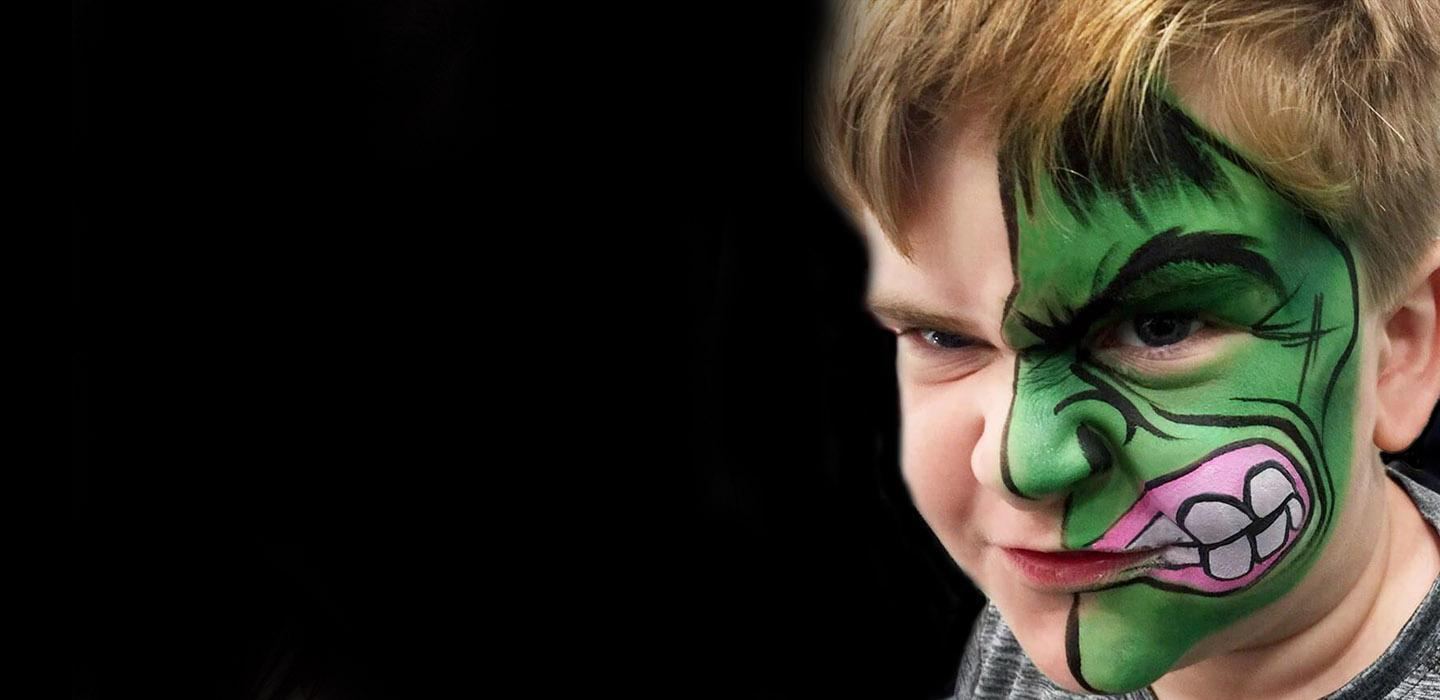 The Hulk Face Paint