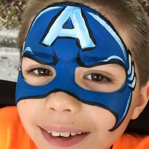 Orange county orlando face painters colorful day events for Face painting for parties